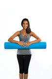 Young woman ready to do Fascia Training Royalty Free Stock Image
