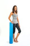Young woman ready to do Fascia Training stock images
