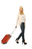 Young woman ready to travel Stock Photo