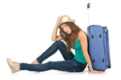 Young woman ready for  vacation Royalty Free Stock Images