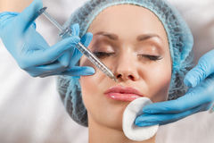Botox injection Royalty Free Stock Photo
