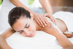 Young woman receiving spa treatment Stock Photography