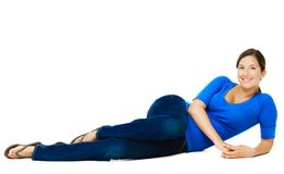 Young woman reclining Stock Photography