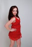 Young woman in red Royalty Free Stock Images
