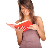 Young woman with red book Stock Image