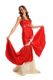 Young Woman In Red Gown Royalty Free Stock Photo
