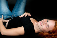 Young woman with red hair Royalty Free Stock Photo