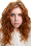 Young woman with red hair Stock Images