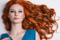 Young woman with red hair. Stock Images