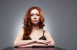 Young woman with red hair portrait Stock Image