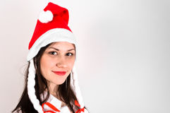 Young woman in red hat Stock Photography