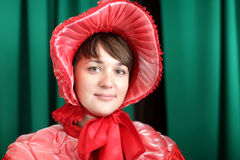 Young woman in red Royalty Free Stock Photo
