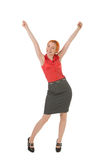 Young woman rejoicing Royalty Free Stock Images