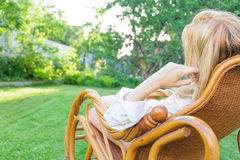 Young woman relax Stock Photo