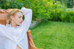 Young woman relax Stock Photography