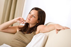 Young woman relax in lounge Stock Image