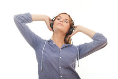 Young woman relaxation and listening music Stock Photo