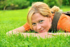 Young woman relaxing Stock Image