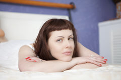 Young woman relaxing Royalty Free Stock Photography
