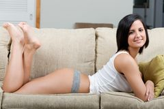 Young woman relaxing Royalty Free Stock Photos