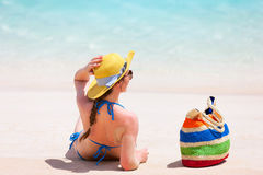 Young woman relaxing at beach Stock Photography