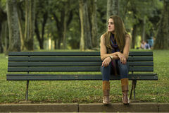 Young woman relaxing Stock Photography