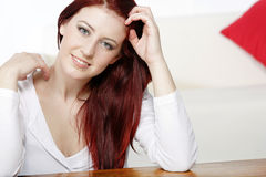 Young woman relaxing at home Royalty Free Stock Photos