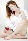 Young woman relaxing at home Royalty Free Stock Image