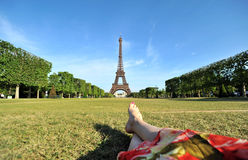 Free Young Woman Relaxing In Paris Royalty Free Stock Photo - 24005135