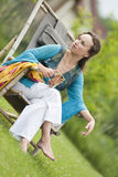 Young woman relaxing on nature Royalty Free Stock Images