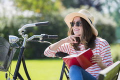 Young woman relaxing outdoor Stock Images