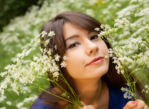 Young woman relaxing at park Stock Image