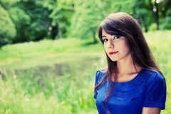 Young woman relaxing at park Stock Images