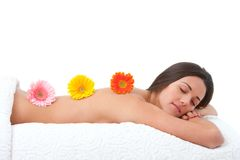 Young woman relaxing in spa. Royalty Free Stock Images