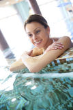 Young woman relaxing in the spa center Royalty Free Stock Images