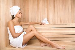 Young woman relaxing in spa.Healthcare and beauty royalty free stock images