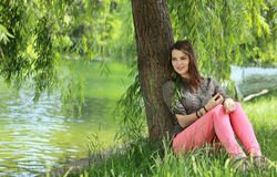Young Woman Relaxing Royalty Free Stock Image