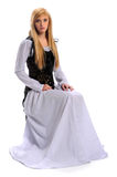 Young Woman In Renaissance Clothing Stock Images
