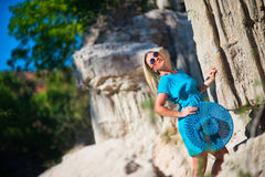 Young woman on resort Stock Photo