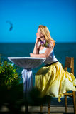 Young woman on resort Stock Photography