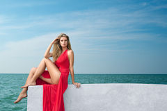 Young woman at resort Royalty Free Stock Photography