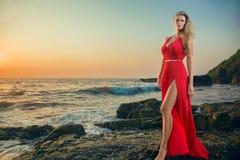 Young woman at resort Royalty Free Stock Image