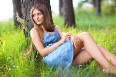 Young woman resting Royalty Free Stock Photography