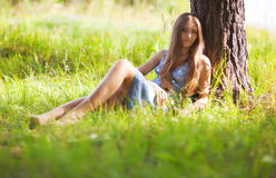 Young woman resting Royalty Free Stock Photo