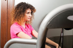 Young woman resting in the gym Royalty Free Stock Photo