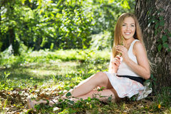 Young Woman resting Royalty Free Stock Photos