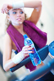 Young woman resting after training Royalty Free Stock Images