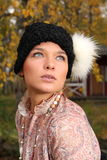 Young woman in retro clothing Royalty Free Stock Photography