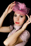Young woman in retro style Royalty Free Stock Photos
