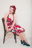 Young woman in retro style Royalty Free Stock Images